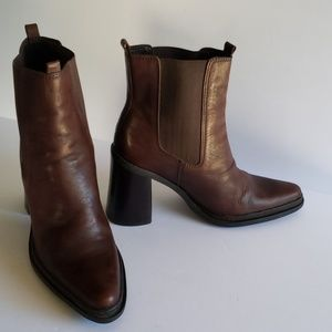 Mia mid calf pointy toe brown boots 8.5